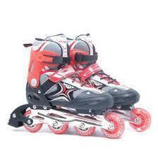 Children roller blade red