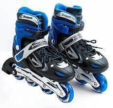 Children roller blade blue