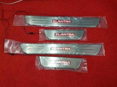 Hyundai elantra led door step side step sill plate