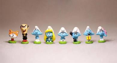 The Smurfs mini figures toy model 2cm 8pcs