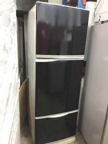 Black Toshiba Refrigerator Peti Ais Fridge 3 Doors