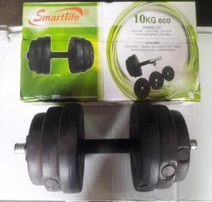 Dumbbell 10kg set plastic-SMARTLIFE