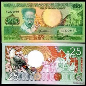 Suriname 25 gulden 1988 p 132 bird