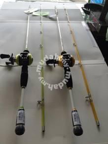 SEAHAWK BASSHUNTER Fishing Casting Reel &Rod Joran