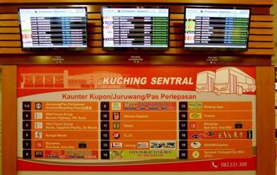 Bus ticket from/to - Kuching-Sibu-Bintulu-Miri