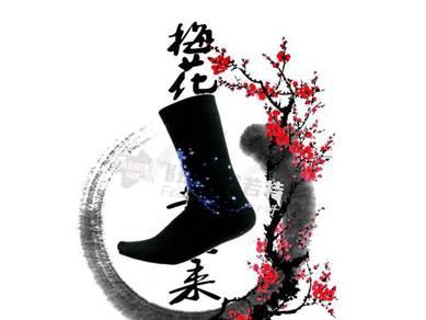 Socks (Thick/Flower/Blue)