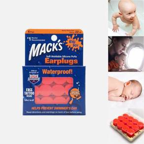 Mack's Kids Size Moldable Silicone Putty Earplugs