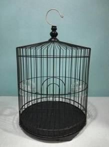 Black Iron Bird Cage Sangkar Burung 13'' x 14''