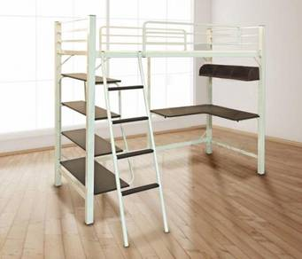 Double Decker Bed Frame c/w Study Table