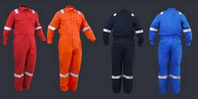 Cotton coverall with reflector