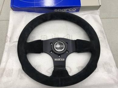 Sparco 300 Steering Wheel Black Suede - 300mm