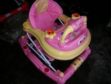 3 in 1 pink baby walker