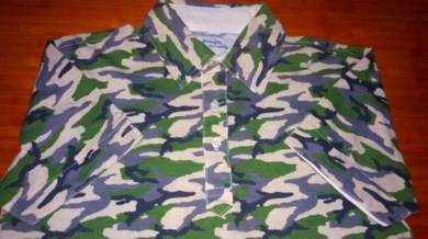 Authentic CAMO COLLAR BY BLUEGILL SzM Shirts