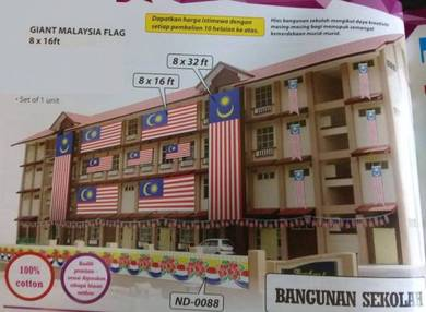 Giant Malaysia Flag 8 x 16 ft