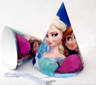Frozen birthday decoration paper cup plates cap