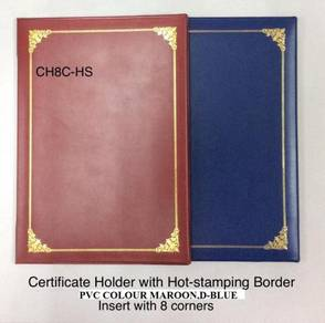 Certificate folder pvc a4 with hotstamping gold
