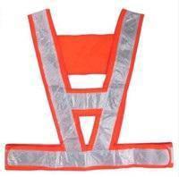 Safety vest v shape orange