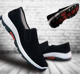 F0267 Black Wear Slip On Hiking Travel Kasut Shoes