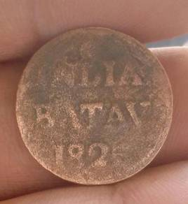 Duit Syiling 5 1/16 Indiea Batav Tahun 1825