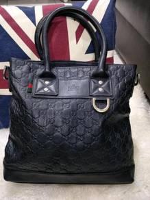 Black Leather Gucci Handbag