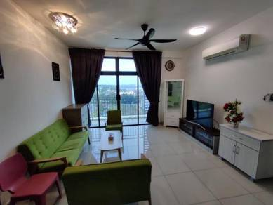 Walking distance HSA Citywood Condo 2+1 bed Fully Furnished danga bay