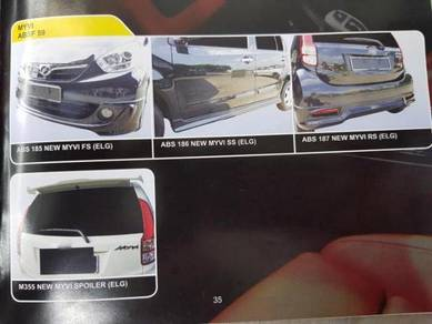 Perodua Myvi 15 Abs bodykit without painting