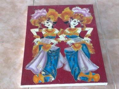 Gambar hiasan Bali canvas painting decor frame