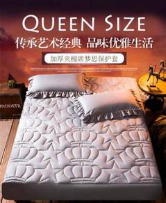 (Ready) Hot Sale Thick Quilted Bedsheet Set Cadar