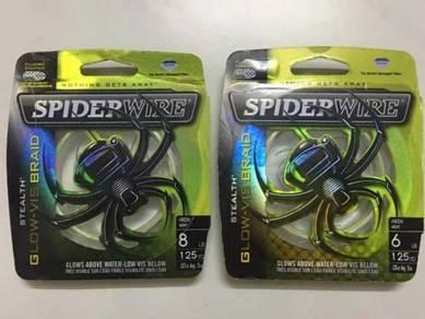SPIDER WIRE USA STEALTH GLOW-VIS BRAID 6lb / 8lb