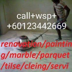 House+Renovation=House=Marble Polish=Parquet=