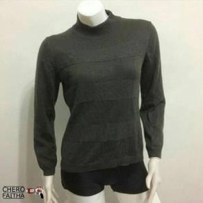 Double large long neck turtle neck sweatshirt baju