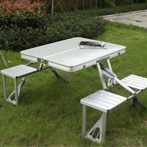 Foldable Aluminium Table Meja Lipat
