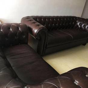 Chesterfield sofa 3+2 seater leather