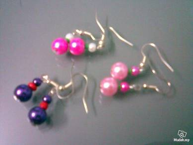 ABESB-3002 3Color set Silver Ear Hook Ear Ring PPP