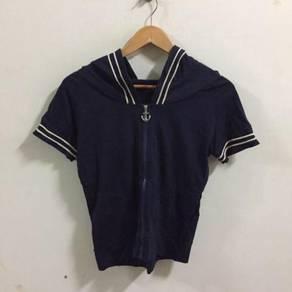 Spica Sailing Hoodie shirt Size S blue cute