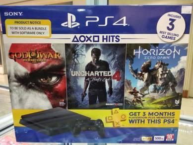PS4 slim 500GB Hits bundle set