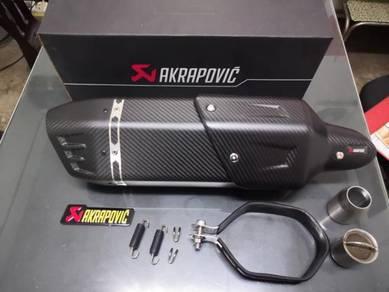 Ekzos exhaust akrapovic fully carbon fiber