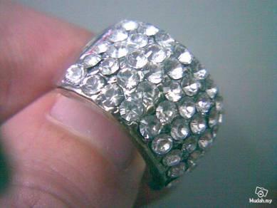 ABRSM-R004 Womens Fashion Rock Punk Crystal Ring 6