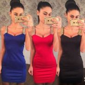 Women's Sexy Sleeveless Black Mini Dress