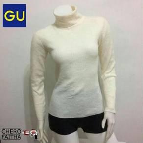 GU long neck turtle neck shirt baju long sleeve