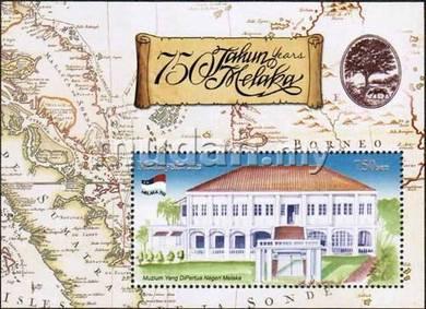 Miniature Sheet Overprint Melaka 750 Years 2012
