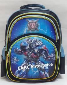 Big 3D Transformer Primary Secondary School Bag Ba