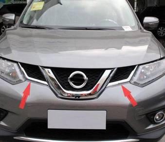 Nissan x-trail xtrail chrome front grill top 2pcs