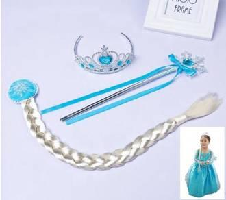 Set Frozen Elsa Crown set 3in1 Blue