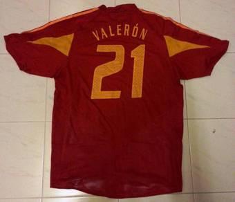 RARE Juan Valeron Spain Jersey Euro 2004 Large
