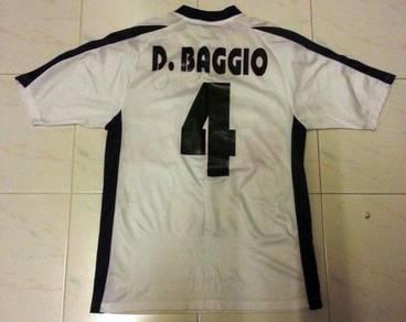 RARE Dino Baggio Lazio Away Jersey Large