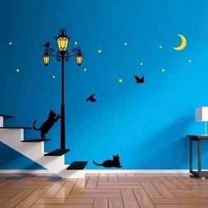 Glow In Dark Street Light Wall Sticker Decor