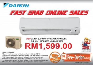 NEW DAIKIN EcoKing R410A 2.0 HP Non-inverter Unit