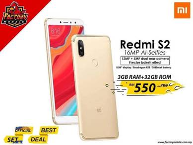 New Xiaomi Redmi S2 [3+32GB] malaysia set