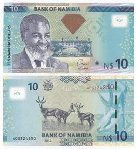 Namibia 10 dollars 2012 p new unc